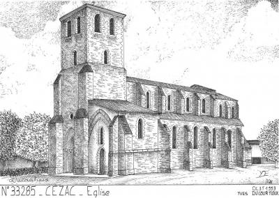 Eglise cézac autrefois