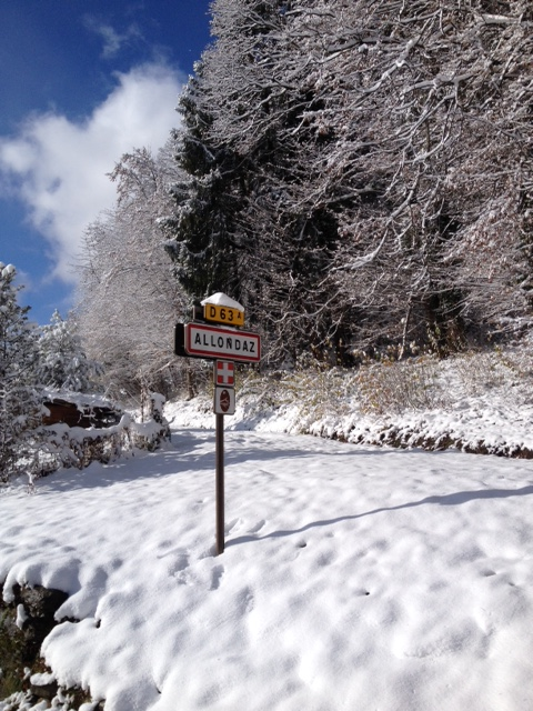 panneau Allondaz neige