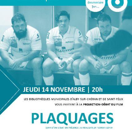 """Projection-débat du film """"Plaquages"""" de Florian Geyer"""