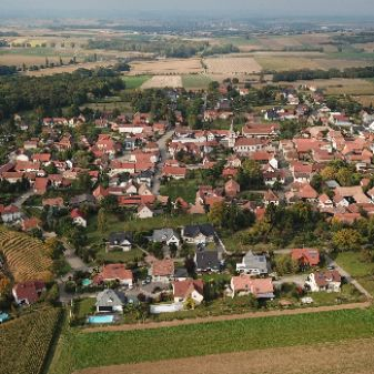Vue aérienne village