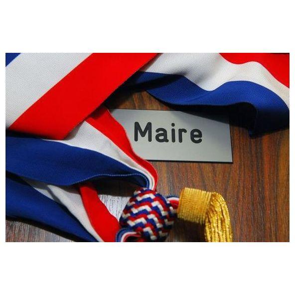 Image plaque maire