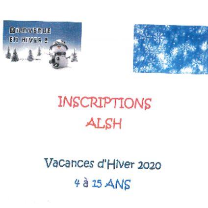Inscriptions ALSH