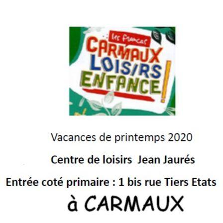accueil au centre de loisirs enfance de Carmaux pendant les vacances d'avril