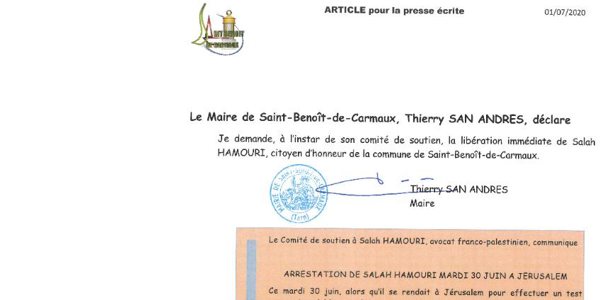 Le Maire, Thierry SAN ANDRES, déclare...