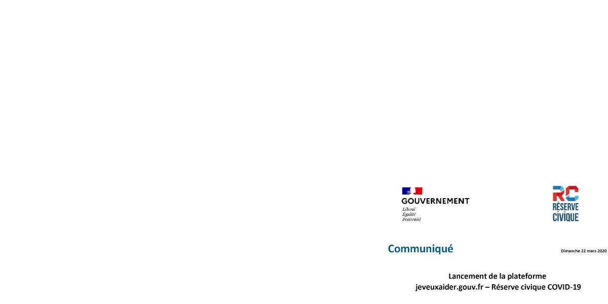 plateforme de solidarité  jeveuxaider.gouv.fr en ligne