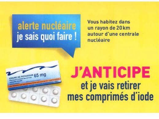 Alerte nucléaire : Pastille d'Iode et bons réflexes