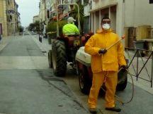 COVID 19 : Nettoyage et désinfection de la commune d'Elne