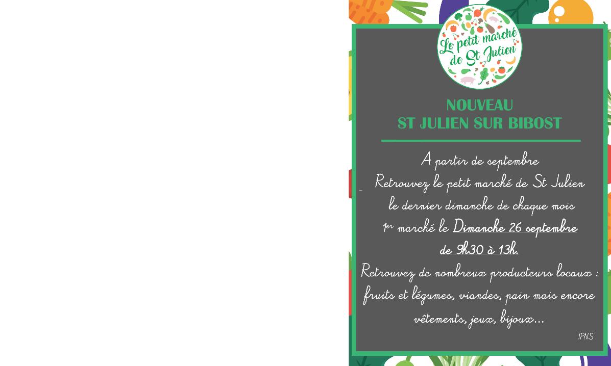 Le petit Marché de St Julien