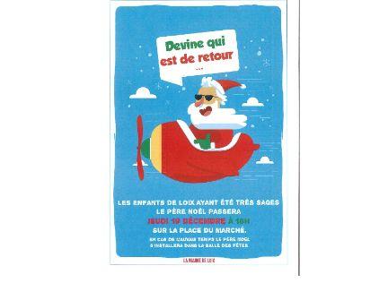 Le Père Noël à Loix