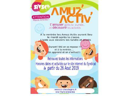 La rentrée des Amuz Activ et de l'aide aux devoirs