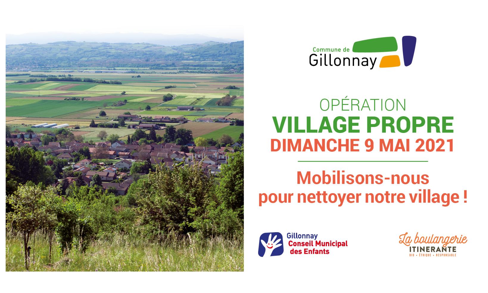 Opération Village Propre le 09 Mai prochain