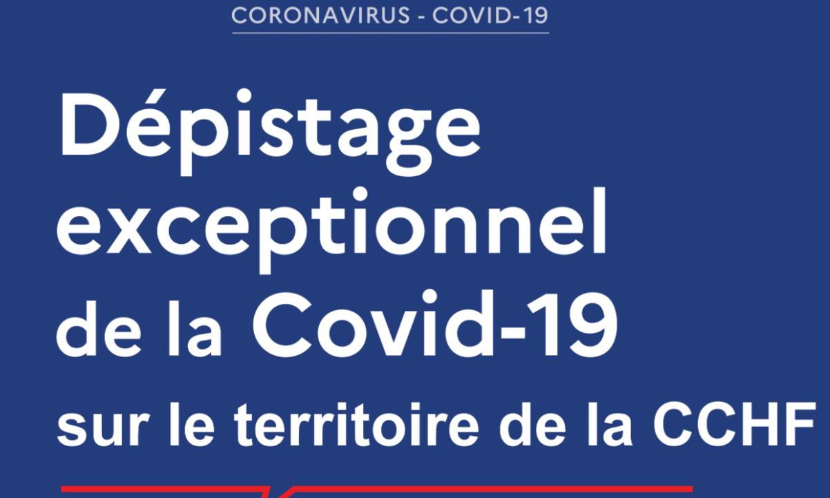 Dépistage de la Covid-19 sur le territoire de la CCHF.