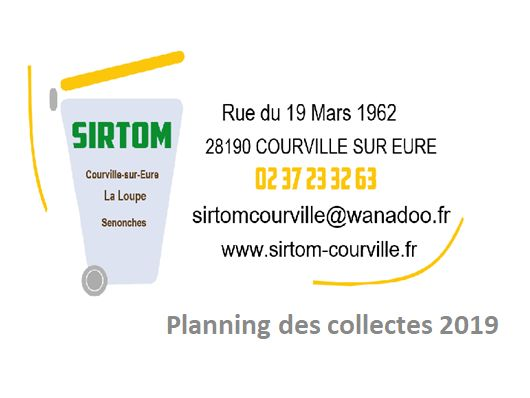 SIRTOM : Collectes 2019