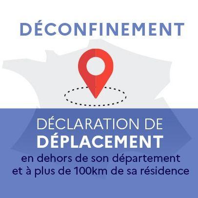 Covid-19 - Déconfinement - Déclaration de déplacement 2