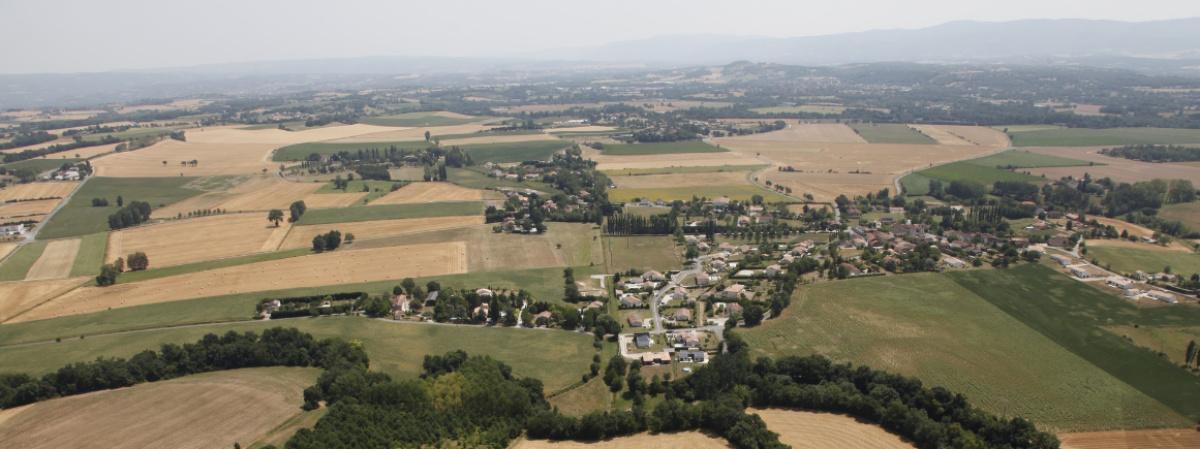Photos aériennes de Fréjeville du 23 Juillet 2019