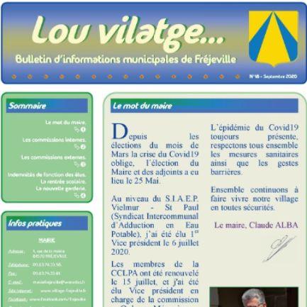 Lou vilatge... - N°18 (A3) - Septembre 2020