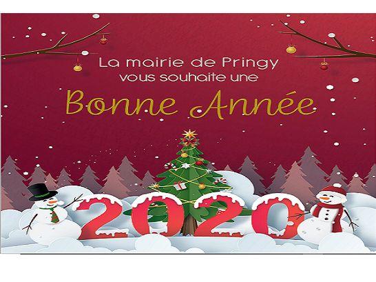 La Mairie de Pringy vous souhaite une bonne année 2020