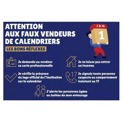 Alerte aux faux vendeurs de calendriers